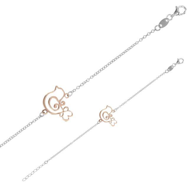 bracelet argent rose 925