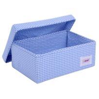 Minene Uk Ltd - Minene Uk BoÎTE De Rangement Vichy Bleu Petite Taille