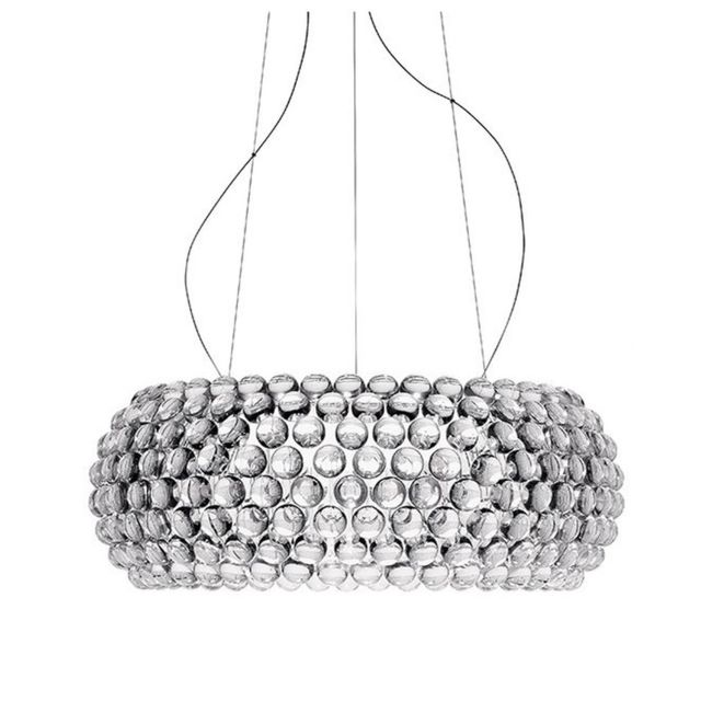 Lampe à suspension Caboche Media - MyLight - transparent - FoscariniMitMyLight - transparent - medium Ø 50 x 20 cm