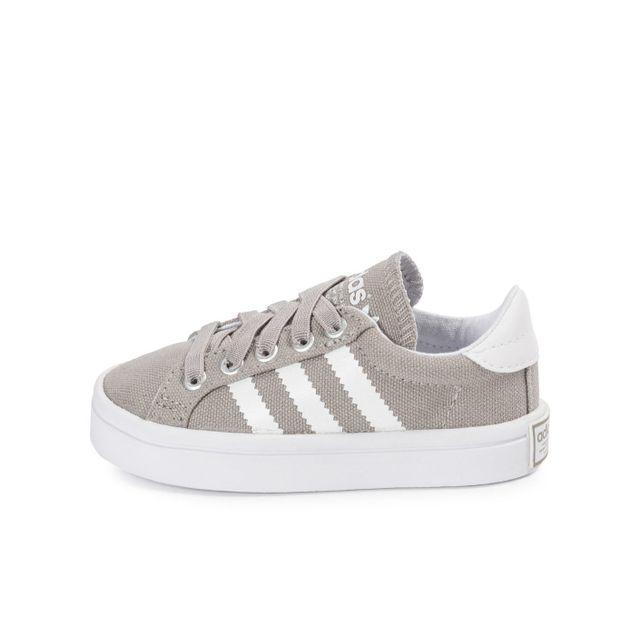 Adidas originals - Court Vantage Bébé Gris - pas cher Achat   Vente ... 58d04eb5349c