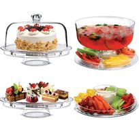 Touslescadeaux - Présentoir à Gâteaux Multifonctions pour Dessert, Apéritif, Punch - 4 en 1