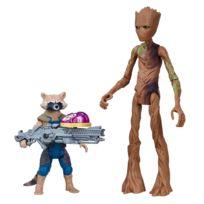 Hasbro - Figurine Avengers 15 cm : Infinity War : Rocket Raccoon et Groot avec Pierre d'Infinité