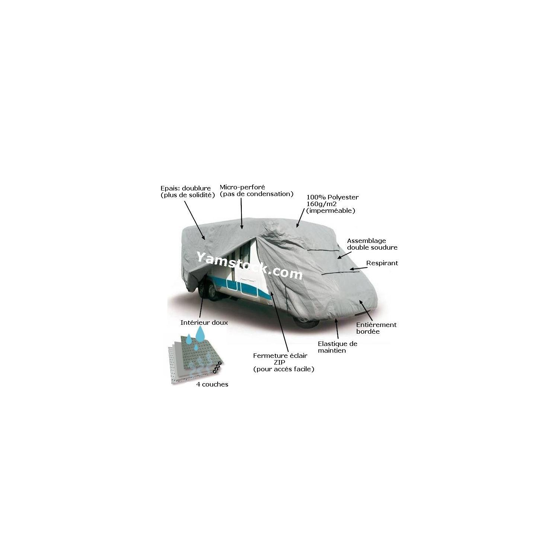 sumex housse bache de protection pour camping car de pvc 620cm x 270cm x 235cm. Black Bedroom Furniture Sets. Home Design Ideas