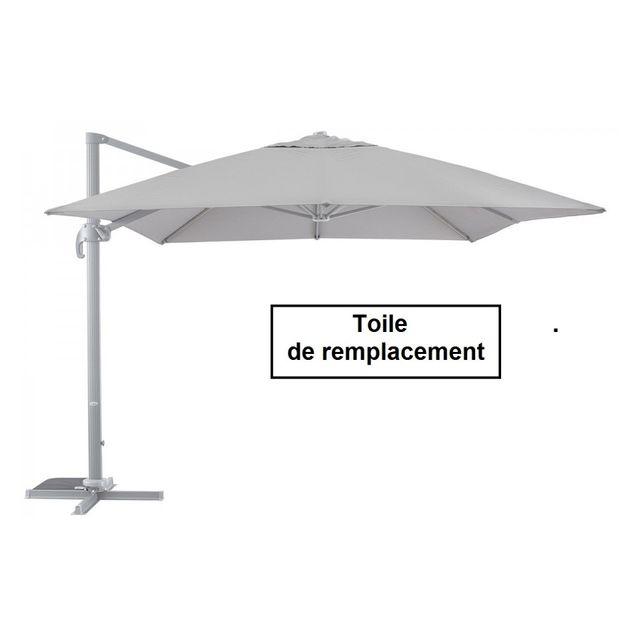 hesp ride toile pour parasol rectangulaire 3x4m d centr. Black Bedroom Furniture Sets. Home Design Ideas