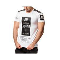 Rerock - Tee shirt bi matière 1006 Blanc