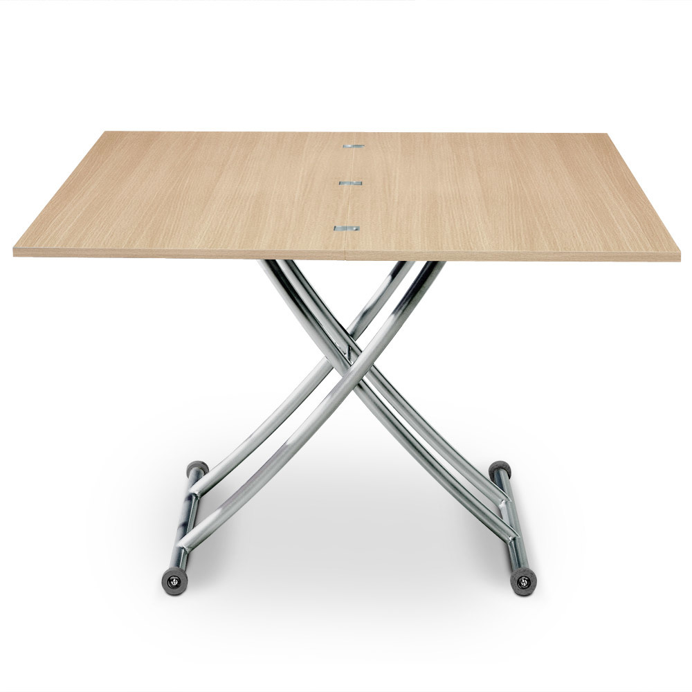 Table basse relevable Carrera Chêne clair