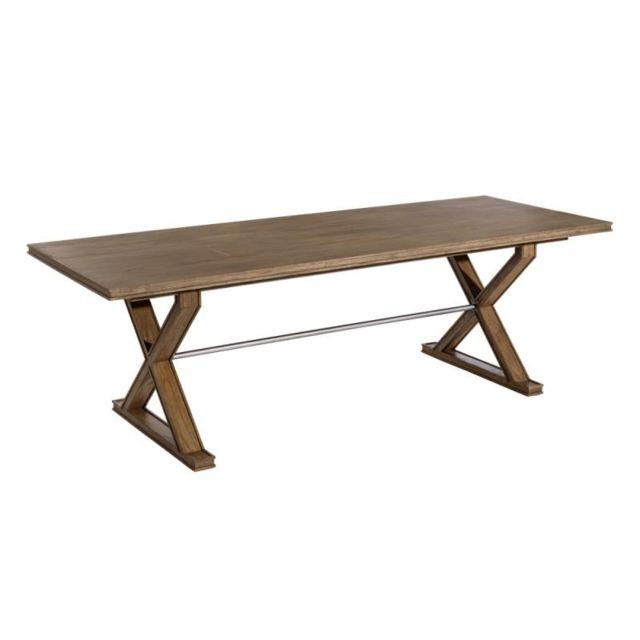 Tousmesmeubles Table de repas rectangulaire Bois foncé - Guelmim