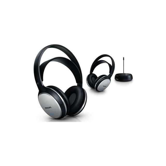 PHILIPS Lot de 2 casques TV sans fil SHC5112