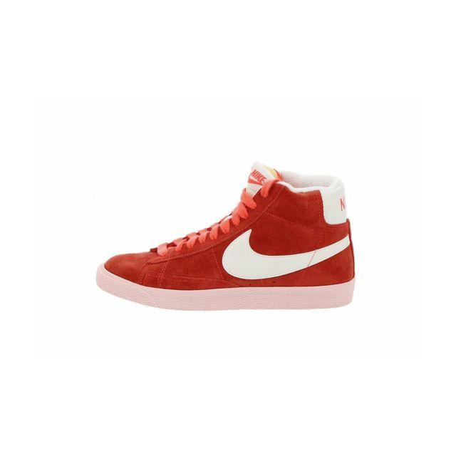 Nike Basket Blazer Mid Suede Vintage 518171 800 Rouge