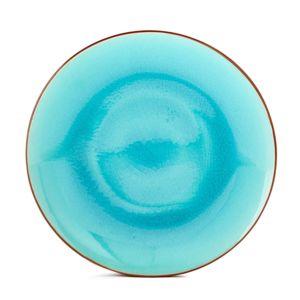alin a lagoon assiette plate en gr s bleu lagon finition craquel e d27cm pas cher achat. Black Bedroom Furniture Sets. Home Design Ideas