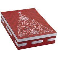 AUBRY GASPARD - Boite de Noël rectangulaire en carton