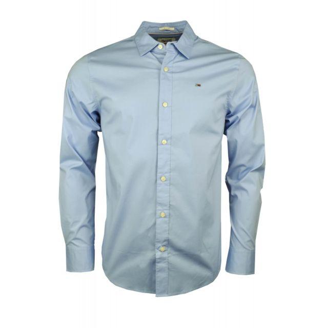 5aa3daa272edd Tommy Hilfiger - Chemise slim fit Original bleu pour homme - pas cher Achat    Vente Chemise homme - RueDuCommerce