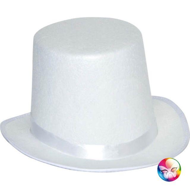 Aptafetes - Chapeau Haut de Forme Blanc - Adulte - pas cher Achat ... 6c419fc3726