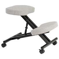 Idimex - Tabouret ergonomique Robert, gris/noir