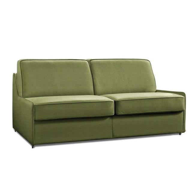 inside 75 canap lit compact 2 3 places arpegio ouverture rapido 120 cm microfibre vert. Black Bedroom Furniture Sets. Home Design Ideas