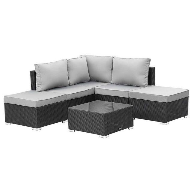 habitat et jardin salon de jardin modulable en r sine tress e lima atlanta canap d 39 angle. Black Bedroom Furniture Sets. Home Design Ideas