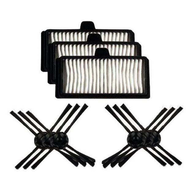 LG Kit Mrk03 : 3 filtres hepa + 6 brosses laterales - Aspirateur robot