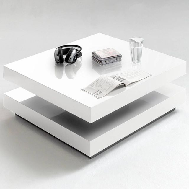 Inside 75 Table Basse Design Hubic Blanche Mate Pas Cher Achat