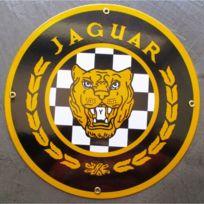 Universel - Plaque emaillée jaguar voiture anglaise tole email deco lof