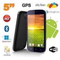 Yonis - Smartphone android 5 pouces téléphone débloqué Quad Core 4 Go Noir