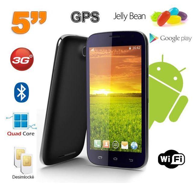 Yonis Smartphone android 5 pouces téléphone débloqué Quad Core 4 Go Noir