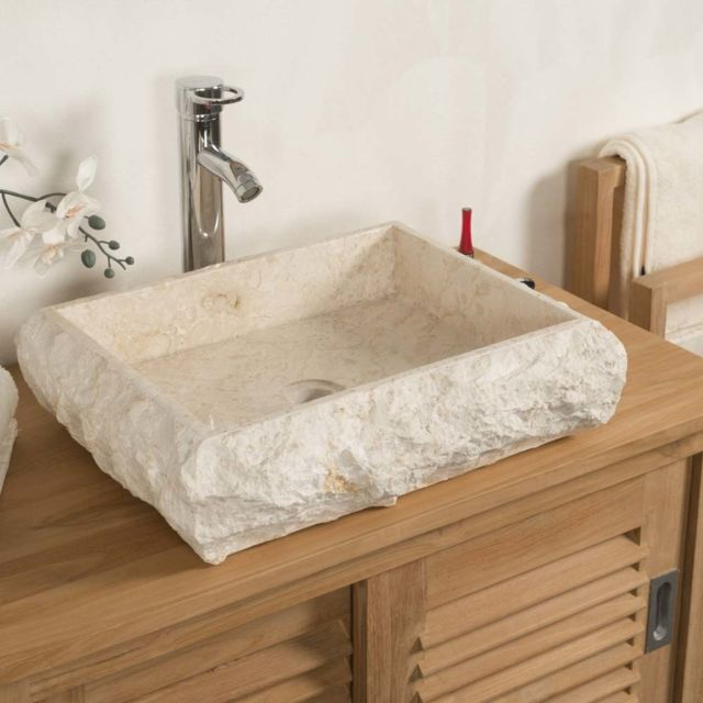 wanda collection Vasque de Salle de Bain à Poser Rectangle ...