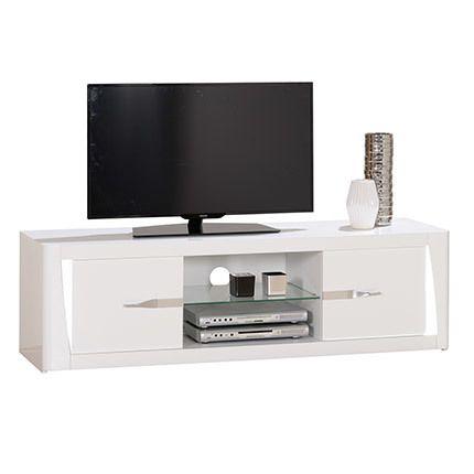 Meuble Tv 2 portes 160x47x45cm - blanc