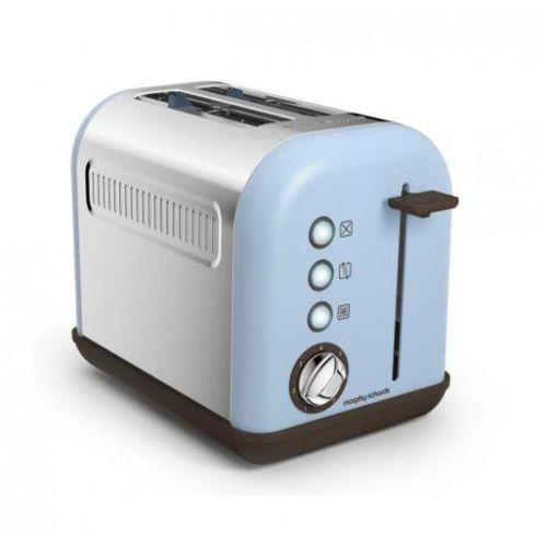morphy richards grille pain 2 fentes 850w accents pop bleu azur m222003ee pas cher achat. Black Bedroom Furniture Sets. Home Design Ideas