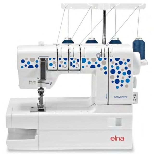 Elna Machine à point de recouvrement EasyCover - Garantie 5 ans