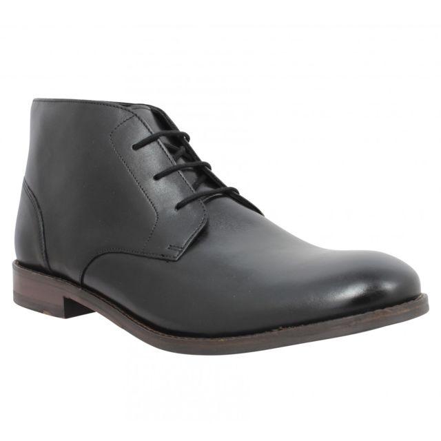 Clarks Flow Top cuir Homme-39,5-Noir