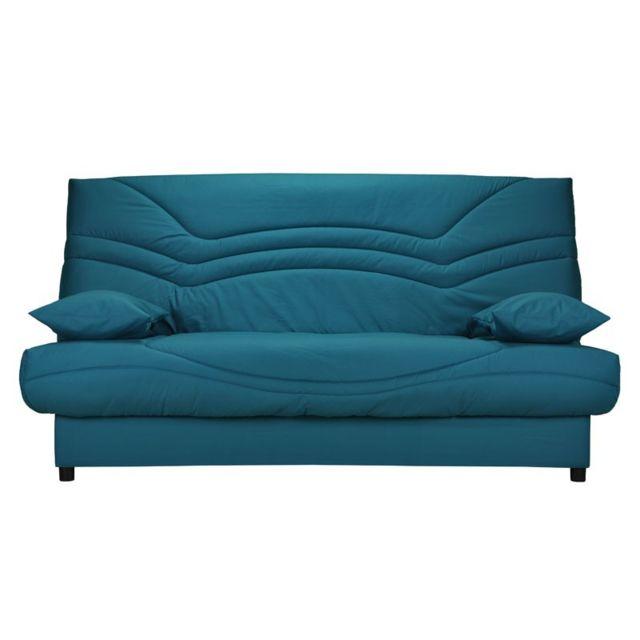 tousmesmeubles banquette lit clic clac matelas hr 130 cm speed tsar n 8 bleu 95cm x 193cm. Black Bedroom Furniture Sets. Home Design Ideas