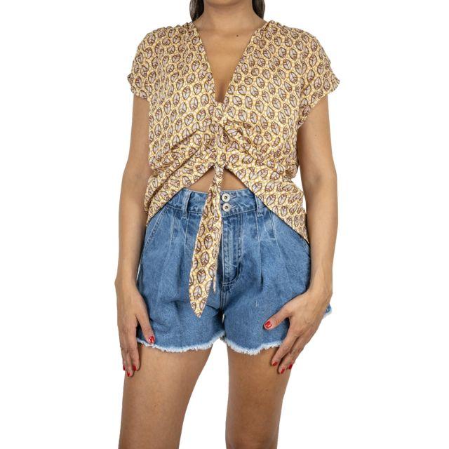 Dixie Femme C651L1281272 Jaune Viscose Blouse