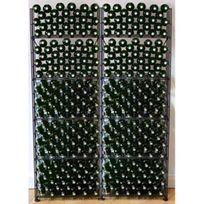 L'ATELIER Du Vin - Rangements modulaires de 320 bouteilles - Noir Aci-adv908x2