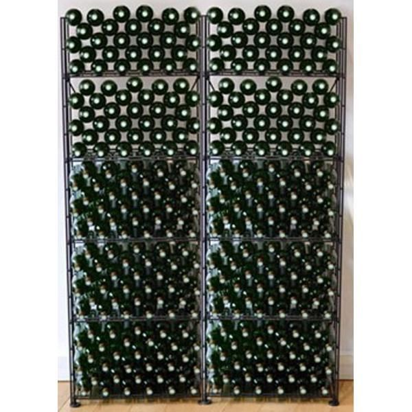 L'ATELIER Du Vin Rangements modulaires de 320 bouteilles - Noir Aci-adv908x2