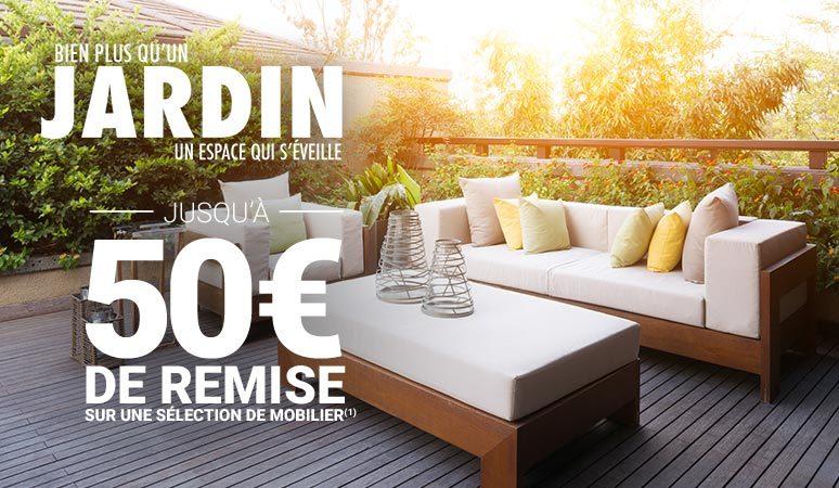 Jusqu'à 50 € de remise sur une sélection de mobilier de jardin (1) !