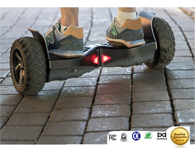 COOL AND FUN - COOL&FUN Hoverboard Bluetooth Tout terrain, gyropode 8.5 pouces modèle HUMMER-BOARD Noir