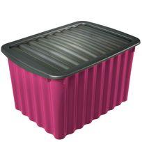 Provence Outillage - Boite de rangement violette 28L avec couvercle