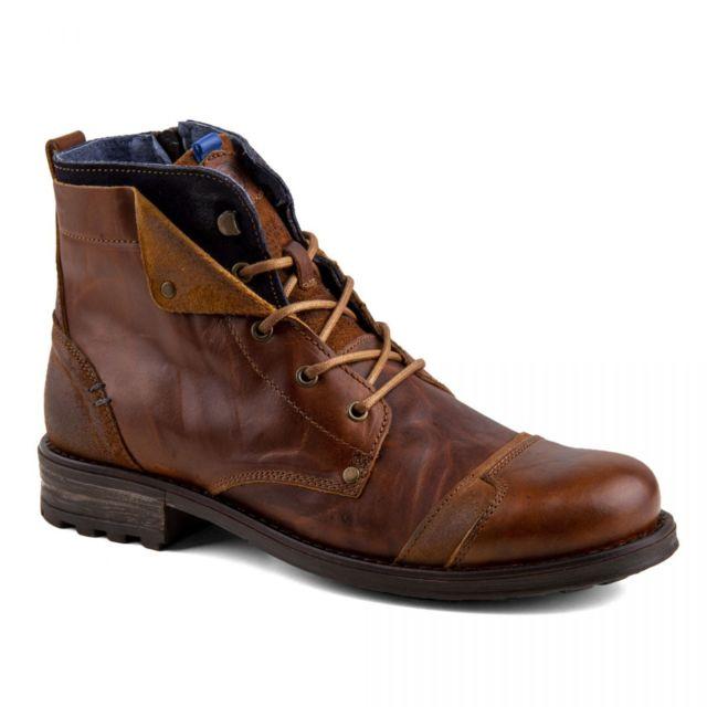 vente bottes cuir homme marron