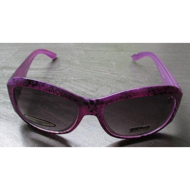c7b6325b9351f Universel - Lunette de soleil femme arrondi leopard violette pin up ...