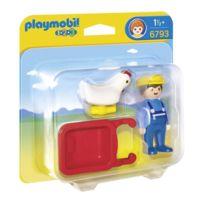Playmobil - 1 2 3 - Fermier avec brouette - 6793
