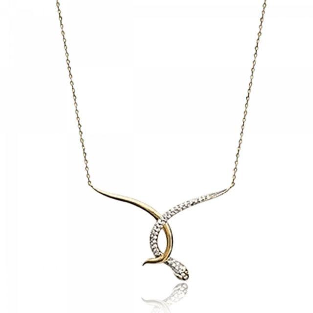 Bijoux En Vogue - Collier Plaqué Or Strass Jaune - pas cher Achat   Vente  Chaînes, colliers - RueDuCommerce 5b0b3cc10dfd