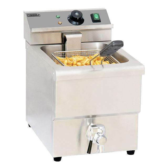 CASSELIN friteuse électrique 8l 3250w avec vanne de vidange - cfev8