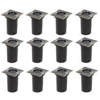 Vimeu-Outillage - Lot de 12 lampes encastrables, forme carrée