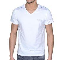 Distinct By Rohff - Distinct - T Shirt Manches Courtes - Homme - Cartel - Blanc
