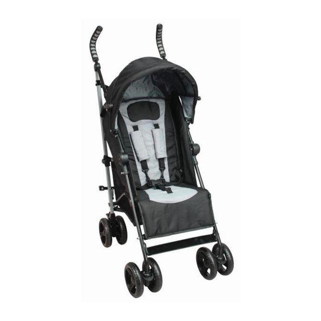 TEX BABY - Poussette canne inclinable TEX - Noir et Gris De 6 mois à 3 ans