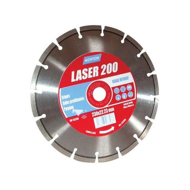 norton disque diamant laser 200 d 125 mm pas cher achat vente accessoires meulage. Black Bedroom Furniture Sets. Home Design Ideas