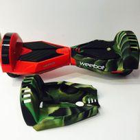 Weebot - Housse siliconée de protection hoverboard 8 pouces la paire, Vert et Noir