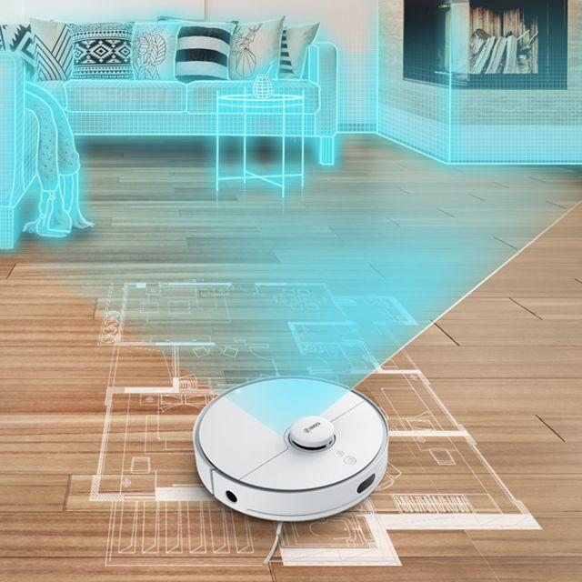 360 S5 Aspirateur Robot Laveur,Navigation Laser 2000Pa