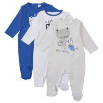 TEX BABY - Lot de 3 pyjamas bébé en coton