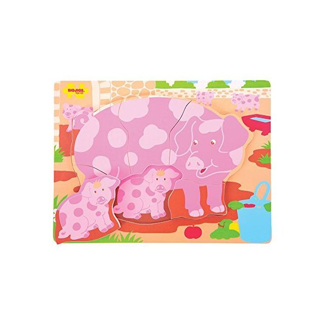 Bigjigs Toys Bb011 Chunky Puzzle Pig and Piglet